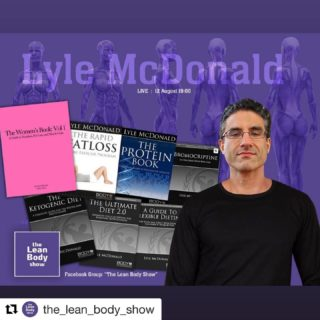 """Lyle literally wrote the book on the issues that women face when it comes to body recomposition. Something that started long before it was as mainstream as it is now. Legend @mcdonaldlyle is on our show LIVE tonight discussing all topics related to Women. If you are female or a coach working with female clients - clear your schedule, have a listen and then go buy his book. I bought it in 2018 and learned so much from it. Join the Facebook GROUP - """"The Lean Body Show"""" and come listen and interact with Lyle live. @greek_spartan @andrew_hudson83 @csbbodyfusion @stephandt"""