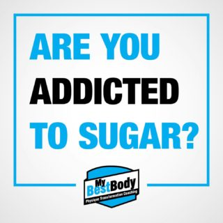 """People often tell me that they need to cut out sugar in order to shed the unwanted bodyfat they have accumulated.  They then proceed to give me a list of all the """"sugary"""" foods they need to eliminate in order to be successful at losing some fat. This list often includes things like biscuits/donuts/chocolate/ice cream/cake/muffins.  All of these foods are highly palatable calorie dense foods. In other words, very delicious and loaded with energy. If you take a look at the amount of sugar and how many calories that contributes to the total calories in each of these foods it's usually a small percentage and most of the calories actually come from fat.  I AM NOT SAYING GO OUT AND EAT LOADS OF SUGAR. But sugar is not the enemy. Highly palatable, calorie dense, non nutritive foods are what you should cut down on in order to manage overall energy intake to allow you to dip into your energy stores and cause overall fat loss.  Sugar on its own is not actually very palatable. After a few spoons we perceive it as too sweet and the desire for it goes down. So no you aren't addicted to sugar. You might just really enjoy these delicious easy to over-consume foods.   #mybestbody #RestartProgram #knowledgeispower #understandinghelpscompliance #lifestylenotcontestprep"""