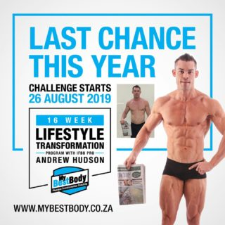 Our last lifestyle transformation program for the year started today. If you want in, it's not too late you can signup today on the website and get started this week.  # This will be open the rest of the week but after that we are closing off any late entries.  # It is R1800 for 16 weeks of workouts, meals and progress 💪🏼💪🏼💪🏼 that's less than R120 per week for access to one of South Africa's best transformation coaches.  # You can signup on our website. Link is in the description. If you have any queries, drop us a DM!